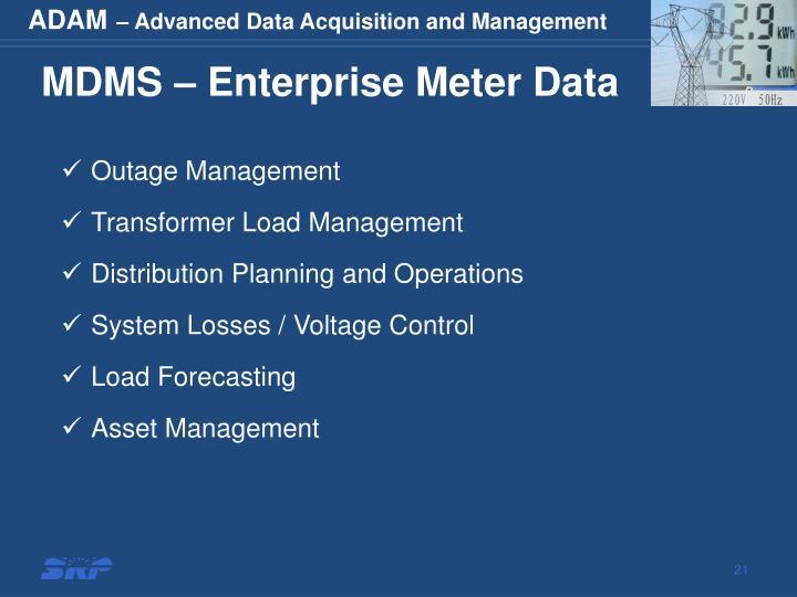 MDMS – Enterprise Meter Data