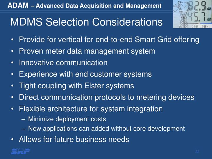 MDMS Selection Considerations