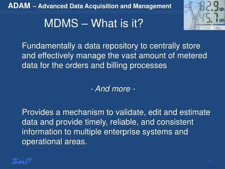 MDMS – What is it?