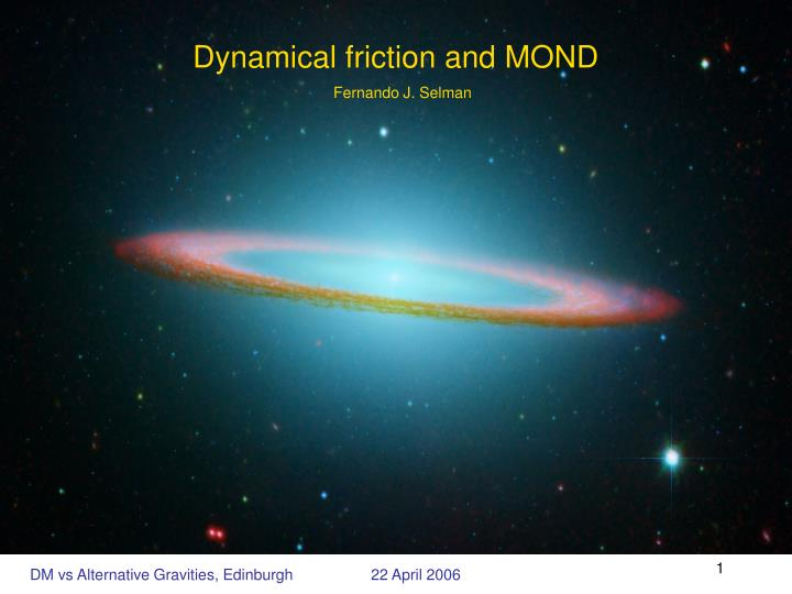 dynamical friction and mond