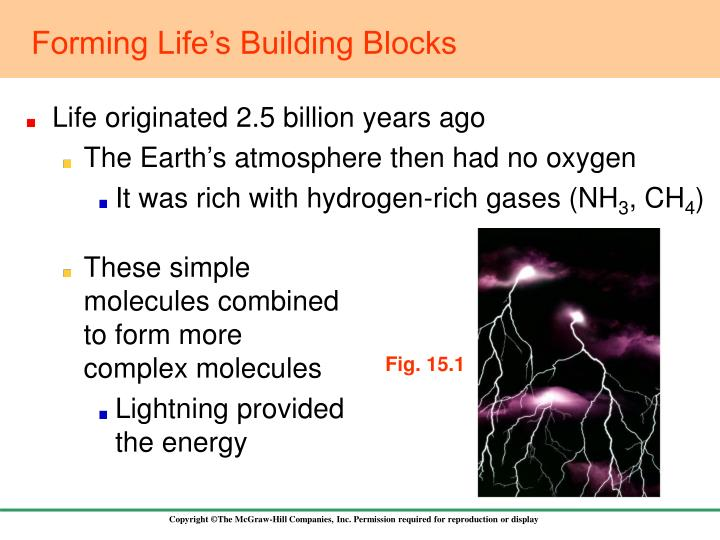 Forming life s building blocks