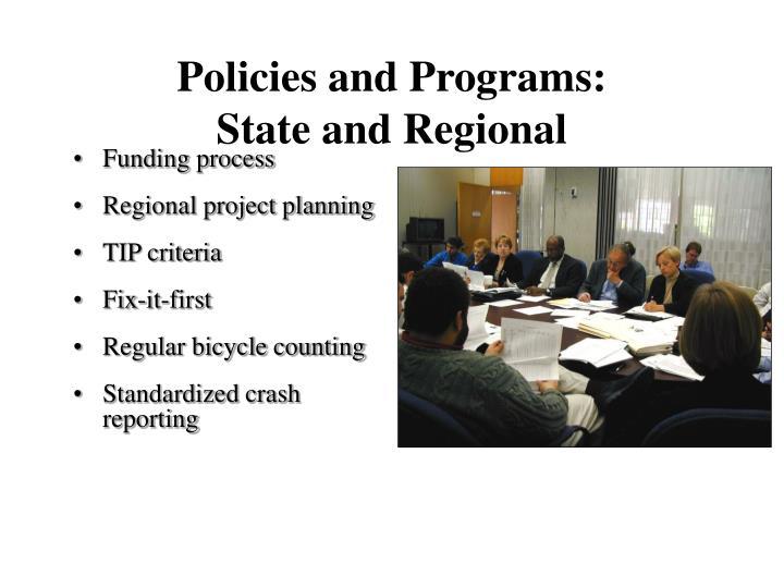 Policies and Programs: