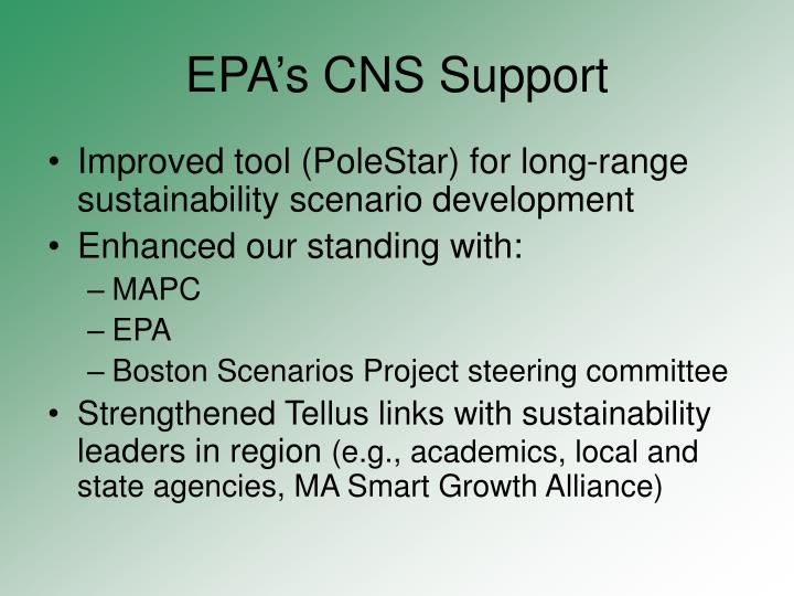 EPA's CNS Support
