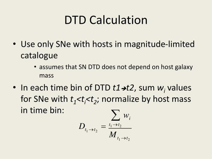 DTD Calculation