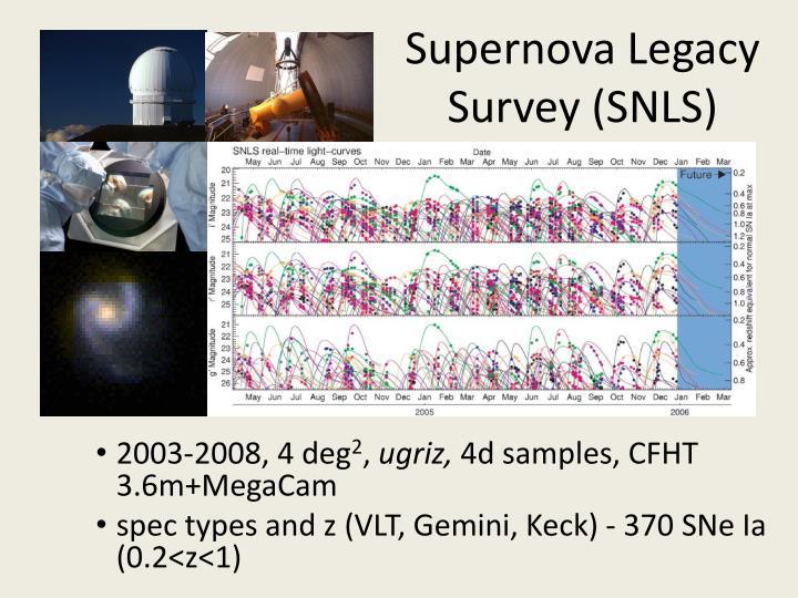 Supernova Legacy Survey (SNLS)