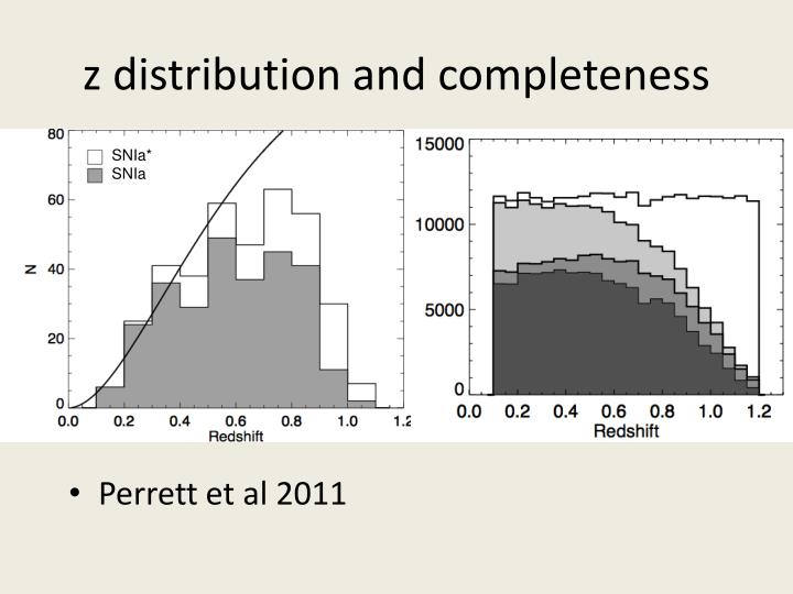 z distribution and completeness