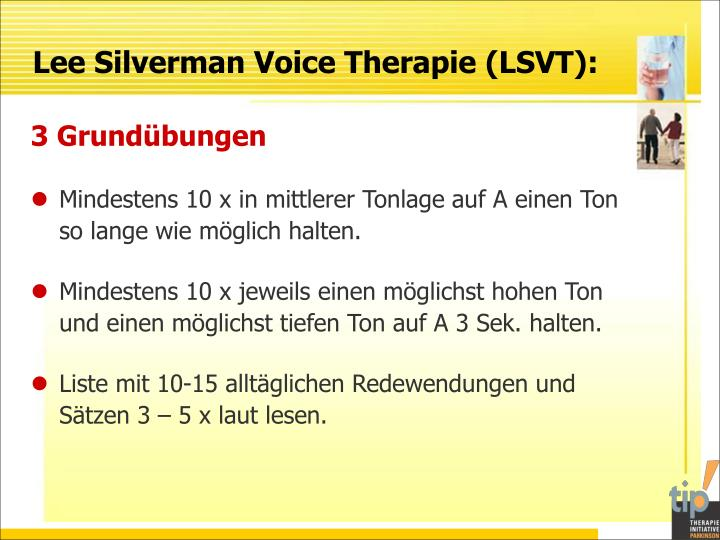 Lee Silverman Voice Therapie (LSVT):
