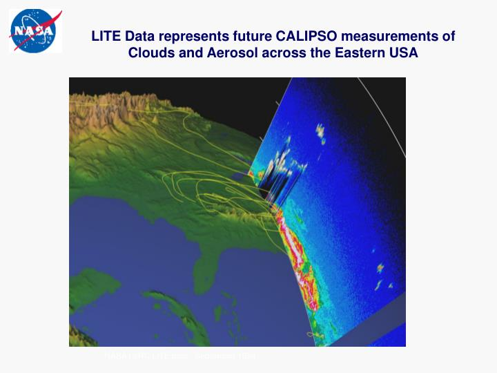 LITE Data represents future CALIPSO measurements of Clouds and Aerosol across the Eastern USA