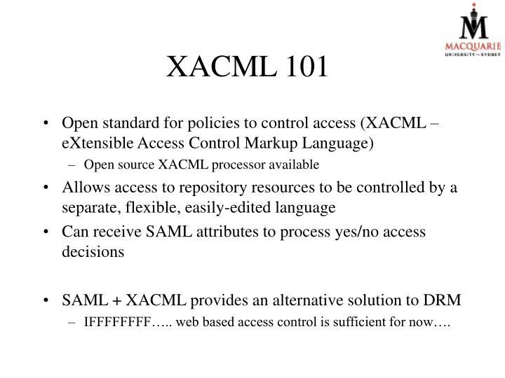 XACML 101