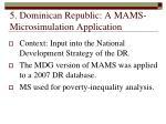 5 dominican republic a mams microsimulation application