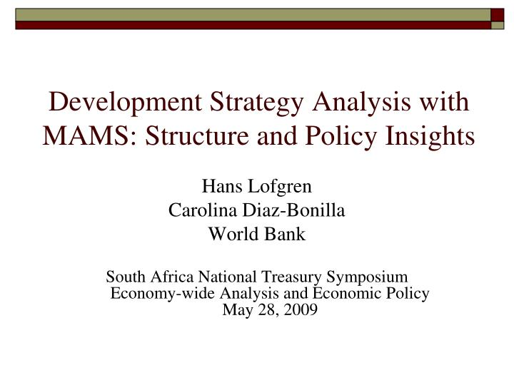 development strategy analysis with mams structure and policy insights n.