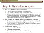 steps in simulation analysis