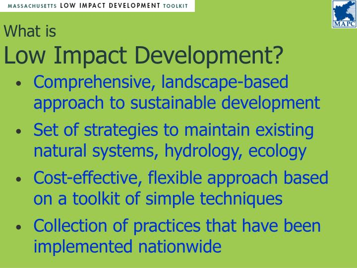 What is low impact development