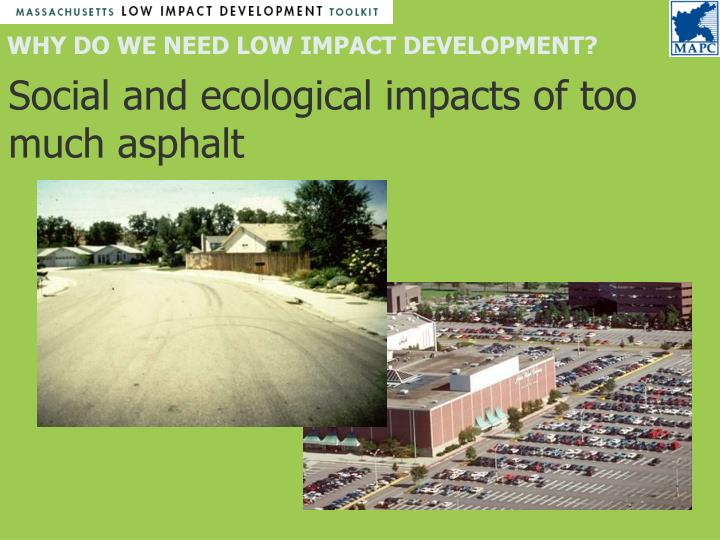 Social and ecological impacts of too much asphalt