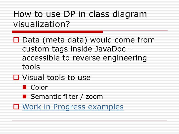 How to use DP in class diagram visualization?