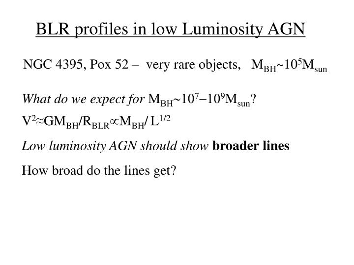 BLR profiles in low Luminosity AGN