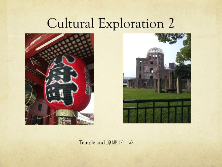 Cultural Exploration 2