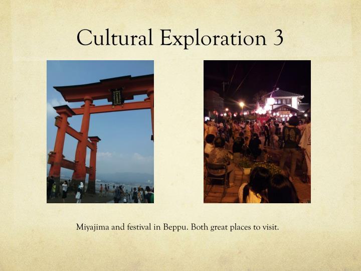 Cultural Exploration 3