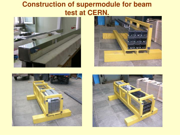 Construction of supermodule for beam test at CERN.