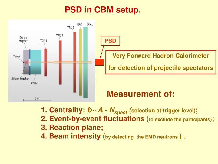 Psd in cbm setup