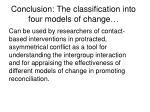 conclusion the classification into four models of change
