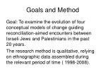 goals and method