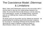 the coexistence model dilemmas limitations