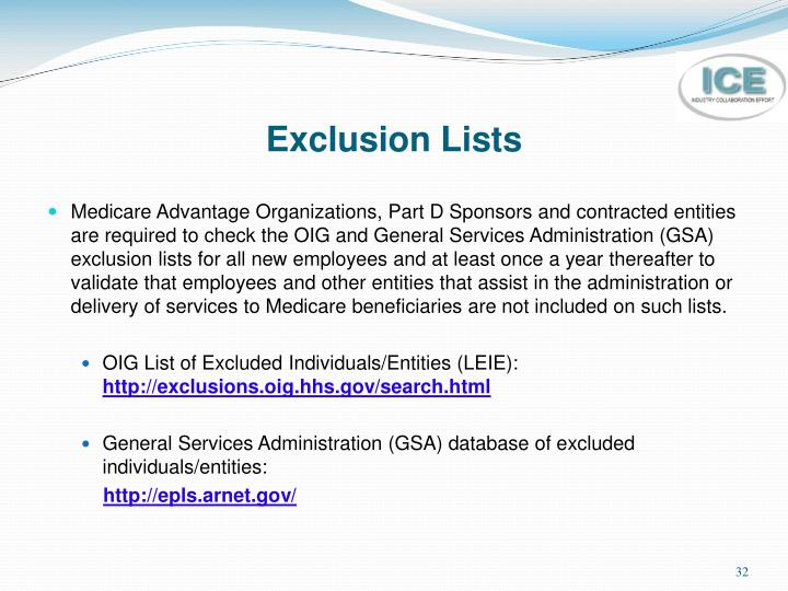 Exclusion Lists