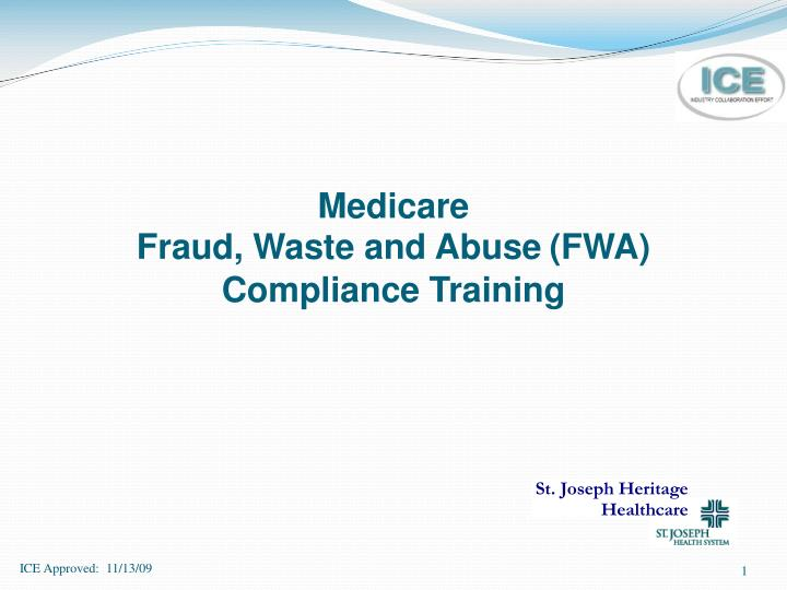 Medicare fraud waste and abuse fwa compliance training