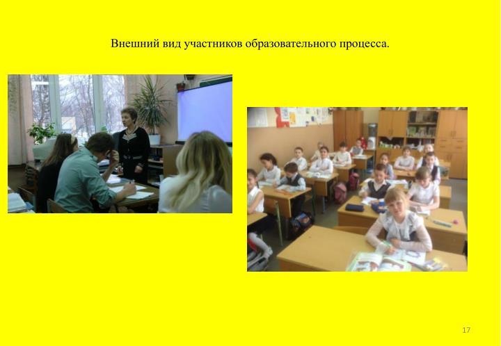Внешний вид участников образовательного процесса.