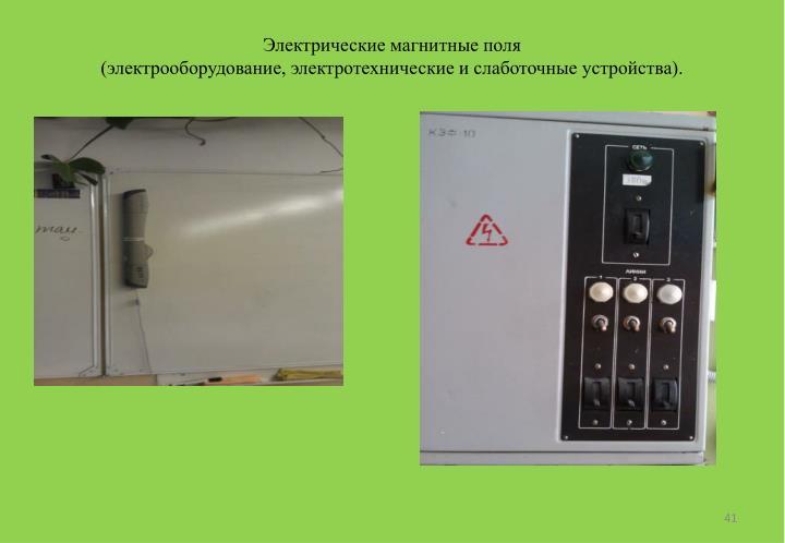 Электрические магнитные поля