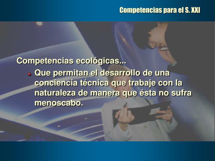 Competencias para el S. XXI