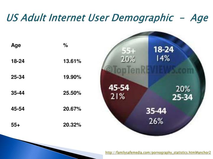 US Adult Internet User Demographic  -  Age