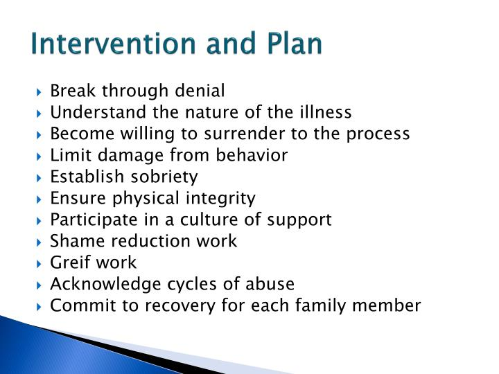 Intervention and Plan
