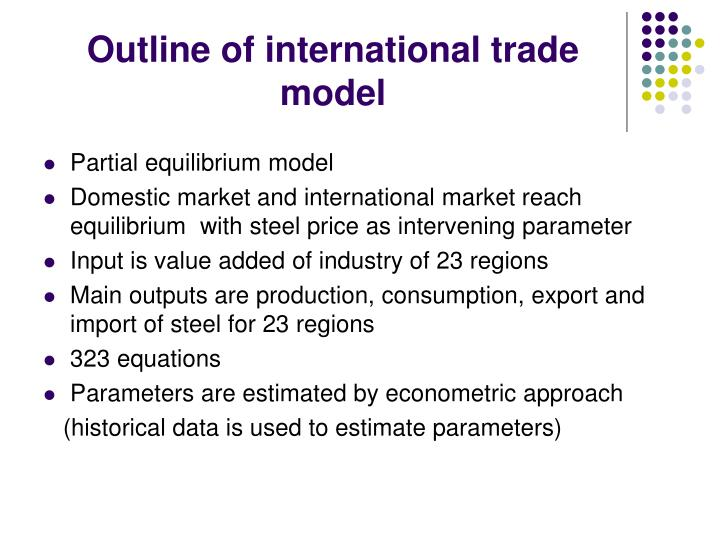 Outline of international trade model