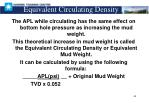 equivalent circulating density