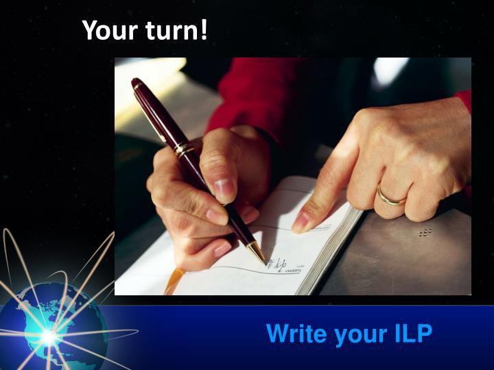 Write your ILP
