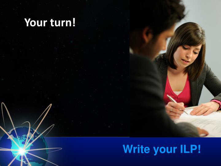 Write your ILP!