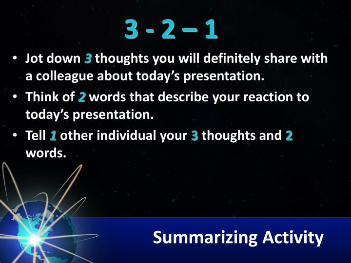 Summarizing Activity