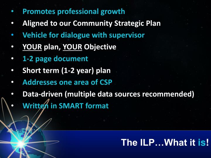 The ILP…What it