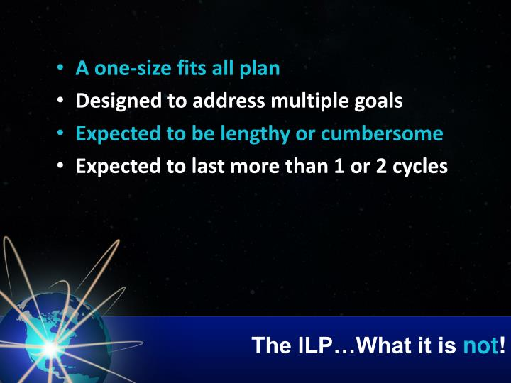 The ILP…What it is