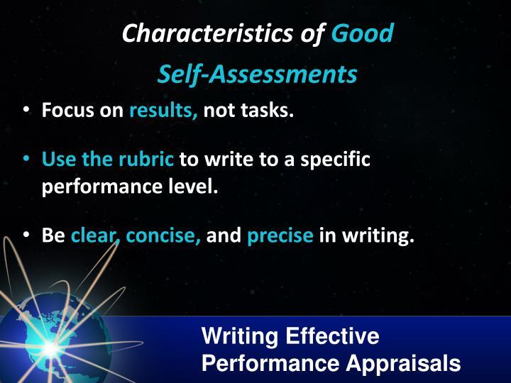 Writing Effective Performance Appraisals