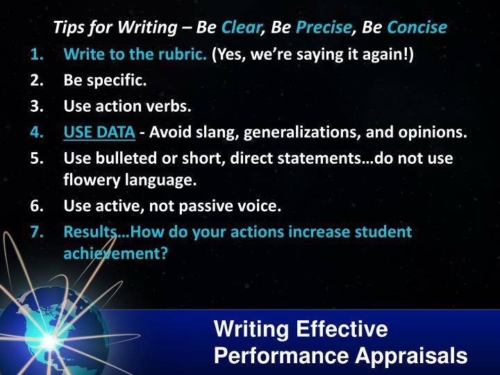 Writing Effective