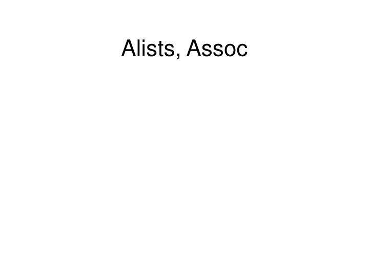Alists, Assoc