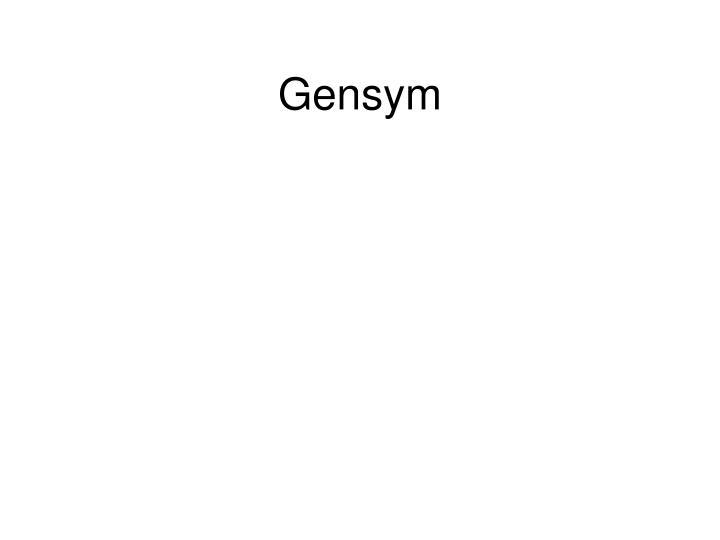 Gensym