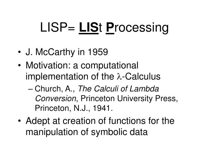 LISP=