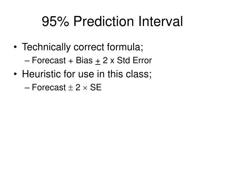 95 prediction interval