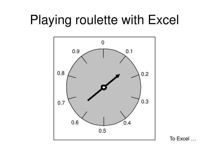 Playing roulette with Excel