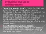 evaluation the use of antidepressants1