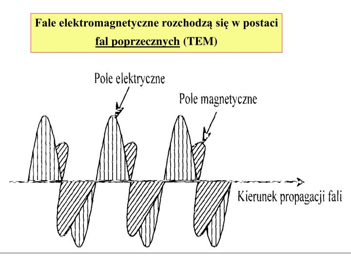 Fale elektromagnetyczne rozchodzą się w postaci